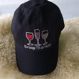Group Therapy Wine Glass Ball Cap